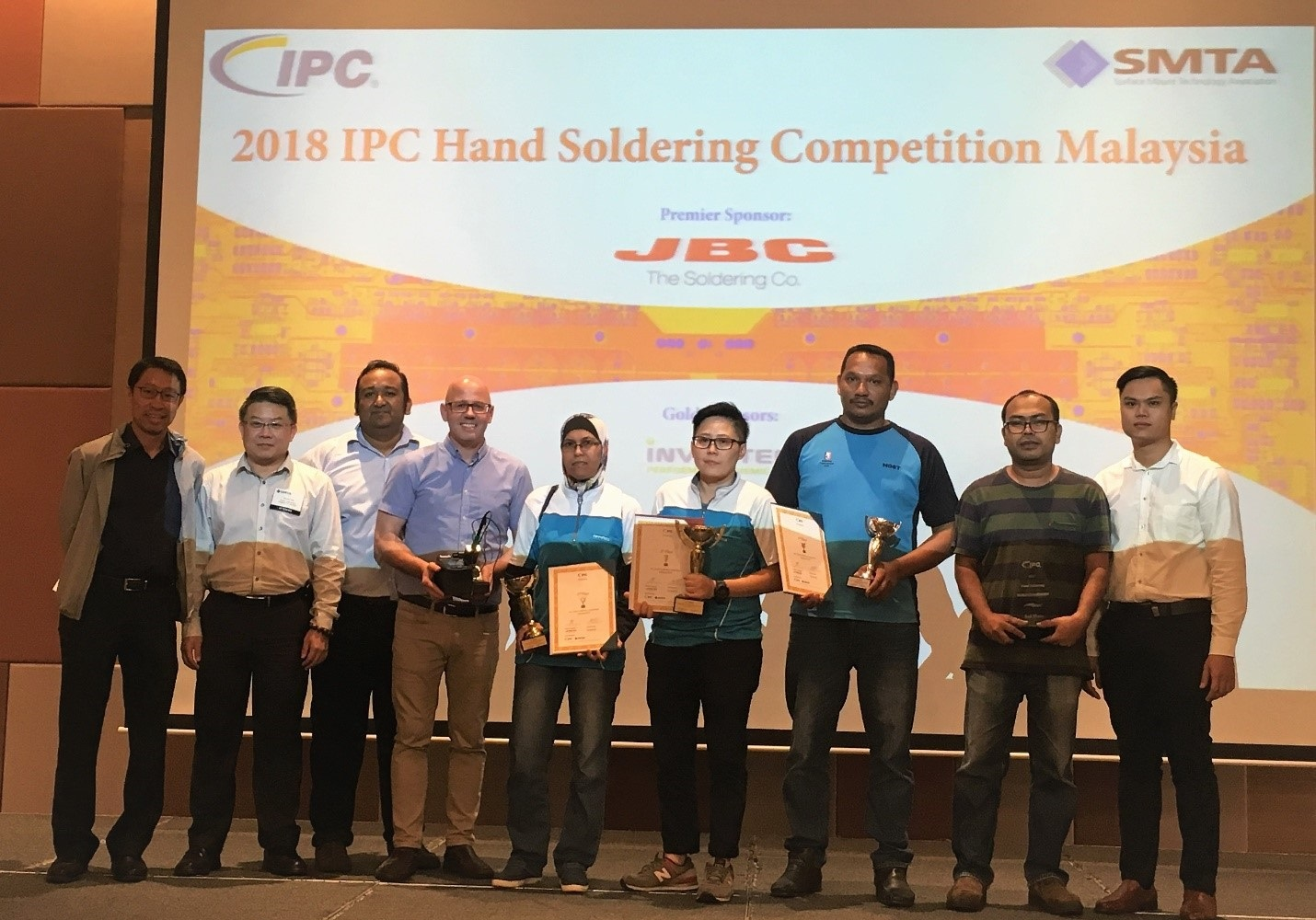 IPC Hand Soldering Competition Winner Crowned at SMTA Tabletop Exhibition 2018 in Penang, Malaysia