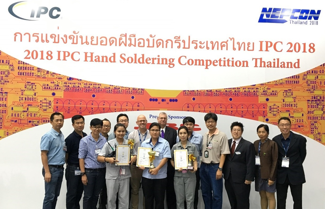 IPC Hand Soldering Competition Winner Crowned at NEPCON Thailand 2018 in Bangkok, Thailand
