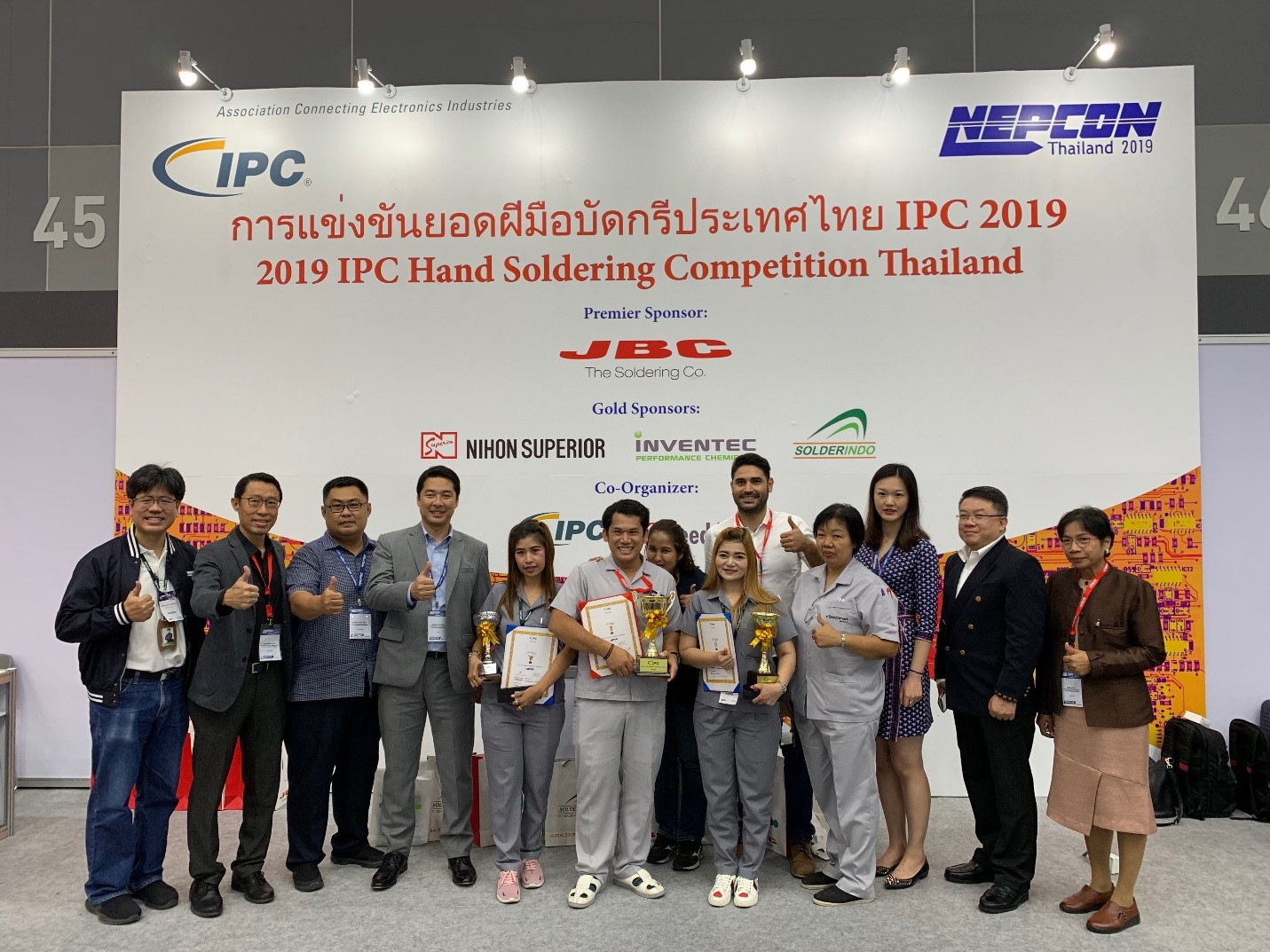 IPC Hand Soldering Competition Winner Crowned at NEPCON Thailand 2019 in Bangkok, Thailand