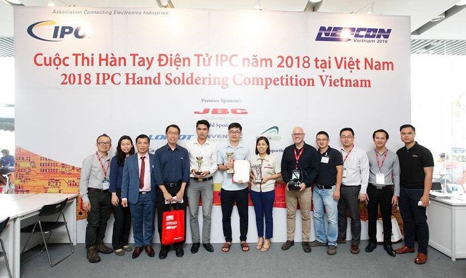 IPC Hand Soldering Competition Winner Crowned at NEPCON Vietnam 2018 in Ho Chi Minh, Vietnam