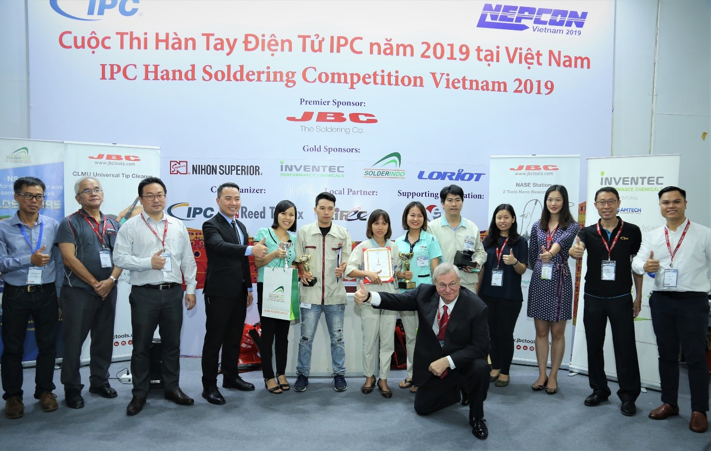 IPC Hand Soldering Competition Winner Crowned at NEPCON Vietnam 2019 in Hanoi, Vietnam